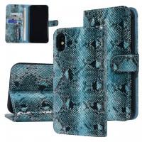 UNIQ 3D Snake Handytasche iPhone X / Xs Schlangenmuster Schwarz / Grün