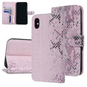 UNIQ 3D Snake Handytasche iPhone X / Xs Schlangenmuster Rose / Pink