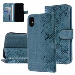 UNIQ 3D Snake Handytasche iPhone X / Xs Schlangenmuster Grün