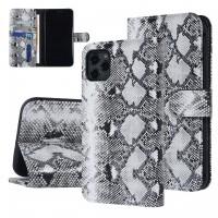 UNIQ 3D Snake Handytasche iPhone 11 Schlangenmuster Schwarz / Weiß