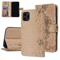 UNIQ 3D Snake Handytasche iPhone 11 Schlangenmuster Braun / Gold