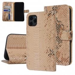 UNIQ 3D Snake Handytasche iPhone 11 Pro Schlangenmuster Braun / Gold