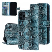 UNIQ 3D Snake Handytasche iPhone 11 Schlangenmuster Schwarz / Grün
