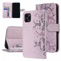 UNIQ 3D Snake Handytasche iPhone 11 Schlangenmuster Rose / Pink