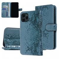 UNIQ 3D Snake Handytasche iPhone 11 Schlangenmuster Grün