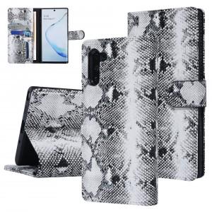UNIQ 3D Snake Handytasche Samsung Galaxy Note 10 Schlangenmuster Schwarz / Weiß