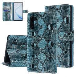 UNIQ 3D Snake Handytasche Samsung Galaxy Note 10 Schlangenmuster Grün / Schwarz