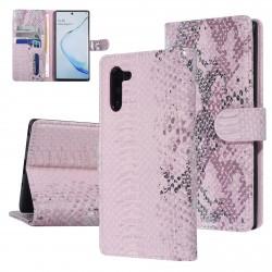 UNIQ 3D Snake Handytasche Samsung Galaxy Note 10 Schlangenmuster Rose / Pink