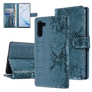 UNIQ 3D Snake Handytasche Samsung Galaxy Note 10 Schlangenmuster Grün