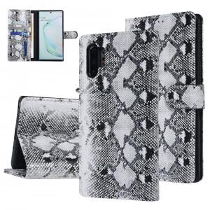 UNIQ 3D Snake Handytasche Samsung Galaxy Note 10+ Plus Schlangenmuster Schwarz / Weiß