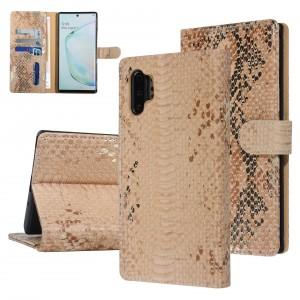 UNIQ 3D Snake Handytasche Samsung Galaxy Note 10+ Plus Schlangenmuster Braun / Gold