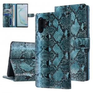 UNIQ 3D Snake Handytasche Samsung Galaxy Note 10+ Plus Schlangenmuster Grün / Schwarz