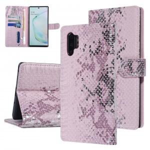 UNIQ 3D Snake Handytasche Samsung Galaxy Note 10+ Plus Schlangenmuster Rose / Pink