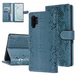 UNIQ 3D Snake Handytasche Samsung Galaxy Note 10+ Plus Schlangenmuster Grün