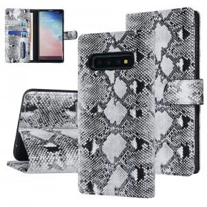 UNIQ 3D Schlangenmuster Handytasche Samsung Galaxy S10 Plus Schwarz / Weiß