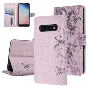 UNIQ 3D Snake Handytasche Samsung Galaxy S10 Schlangenmuster Rose / Pink