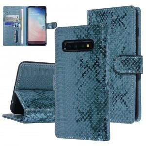 UNIQ 3D Schlangenmuster Handytasche Samsung Galaxy S10 Plus Grün