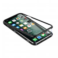 Uniq Magnet Hülle iPhone 11 Pro Schwarz Glas / Metall