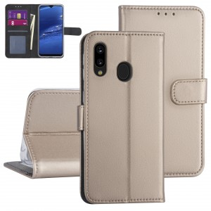 Handytasche Samsung Galaxy A20e Gold