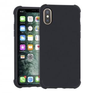 Shockproof Hülle iPhone Xs Max Fallschutz / Kantenschutz Schwarz