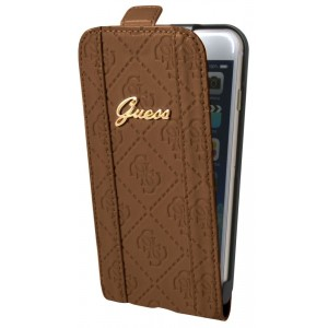 Guess Scarlett Tasche / Flip Case für iPhone 6 Plus / 6S Plus Braun
