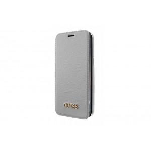 Guess Iridescent Tasche / Book Cover für Samsung Galaxy S8 Plus Grau