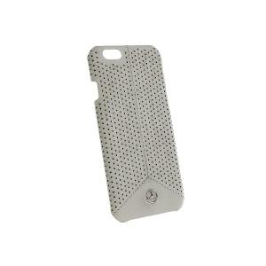 Mercedes Benz Pure Line Perforierte Leder Hülle iPhone 6 / 6S Grau