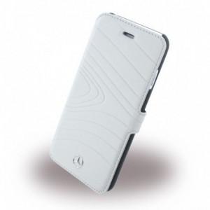 Mercedes Benz Organic Line Ledertasche für iPhone 6 / 6S Grau