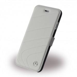 Mercedes Benz Organic Ledertasche für iPhone 6 / 6S Grau