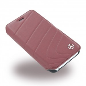 Mercedes Benz Organic Ledertasche für iPhone 6 / 6S Rot