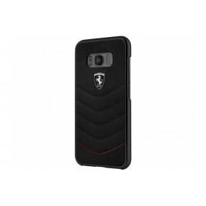 Ferrari HERITAGE Lederhülle / Case für Samsung Galaxy S8 Schwarz