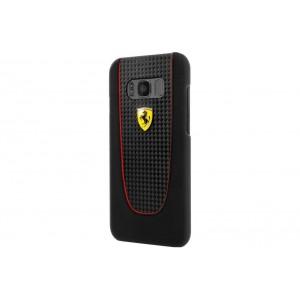 Ferrari Pit Stop Carbon Hülle / Case für Samsung Galaxy S8 Plus Schwarz
