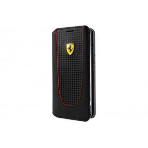 Ferrari Pit Stop Carbon Tasche / Book Cover für Samsung Galaxy S8 Plus Schwarz