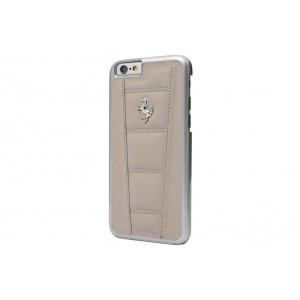 Ferrari 458 Quilted Lederhülle / Case für iPhone 6 Plus / 6S Plus Grau