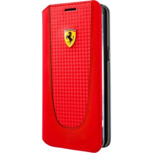 Ferrari Pit Stop Carbon Tasche / Book Cover für Samsung Galaxy S8 Plus Rot