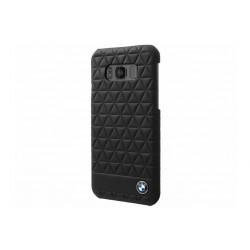 BMW Embossed Hexagon Lederhülle für Samsung Galaxy S8 Schwarz