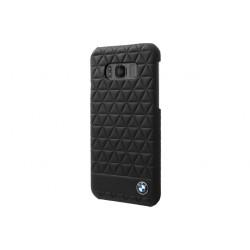 BMW Embossed Hexagon Lederhülle für Samsung Galaxy S8 Plus Schwarz