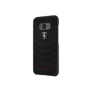 Ferrari HERITAGE Lederhülle / Case für Samsung Galaxy S8 Plus Schwarz
