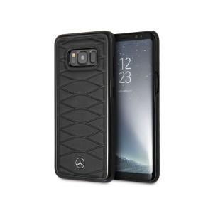 Mercedes Benz Pattern III Lederhülle / Case für Samsung Galaxy S8 Schwarz