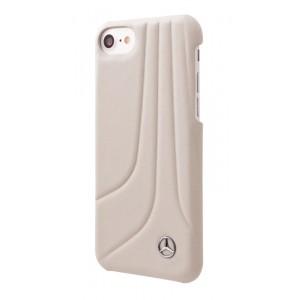 Mercedes Benz BOW II Echtleder Hülle iPhone 8 / 7 Grau