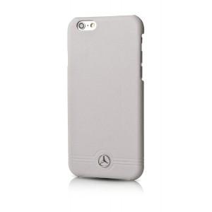 Mercedes Benz Pure Line geprägten Linien Lederhülle für iPhone 6 Plus / 6S Plus Grau
