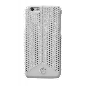 Mercedes Benz Perforierte Leder Hülle für iPhone 6 Plus / 6S Plus Grau