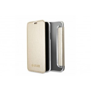 Guess Iridescent Tasche / Book Cover für iPhone X / Xs Gold