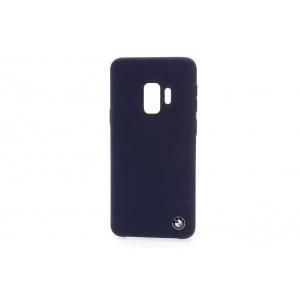 BMW Silikon Fiber Hülle / Cover Samsung Galaxy S9 Blau