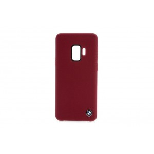BMW Silikon Fiber Hülle / Cover Samsung Galaxy S9 Rot
