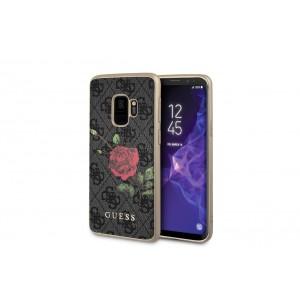 Guess Flower Desire Hülle / Cover Samsung Galaxy S9 Grau