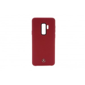 Mercedes Benz Silikon Cover / Hülle für Samsung Galaxy S9 Plus Rot