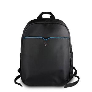 "Maserati Laptop / Notebook Rucksack Slim bis 15"" Schwarz / Blau"