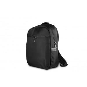 """Maserati Laptop / Notebook Rucksack Slim bis 15"""" Schwarz / schwarz"""