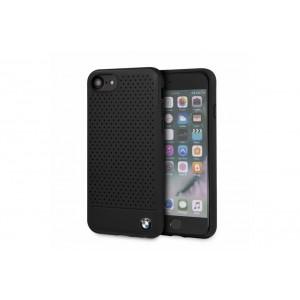BMW Perforated Echtleder / PC Schutzhülle für iPhone iPhone 8 / 7 schwarz